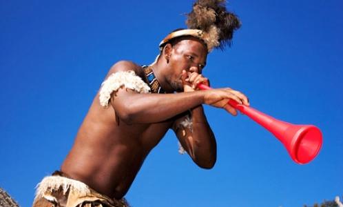 sud africain avec vuvuzela