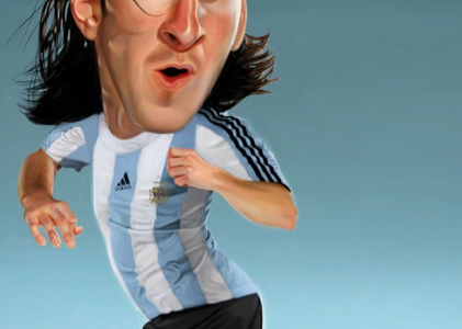caricature de messi