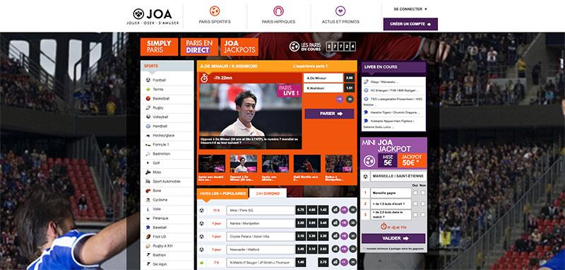 JOA Online accueil